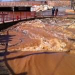Malagón, anegado tras el desbordamiento de tres ríos