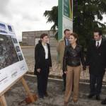 Marta García visita las obras de la CM-4124 entre Almagro y Bolaños