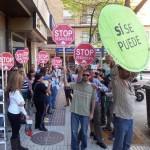 La PAH Puertollano organiza un nuevo escrache ante la sede del PP en protesta por la reforma de Ley hipotecaria