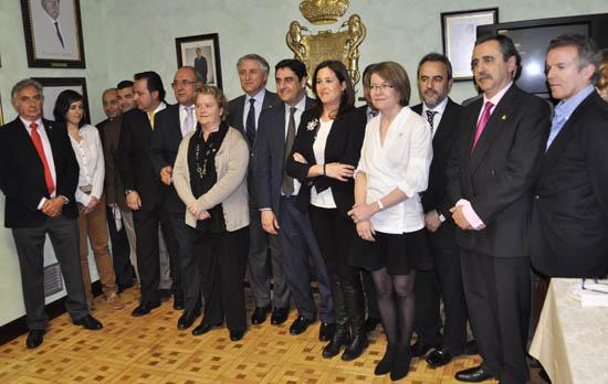 Romero y Echániz, con la nueva Junta Directiva del Colegio de Médicos de Ciudad Real