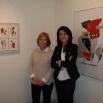 La presidenta del Patronato de Cultura de Alcázar visita en Madrid la exposición de la artista Nuria Cortina