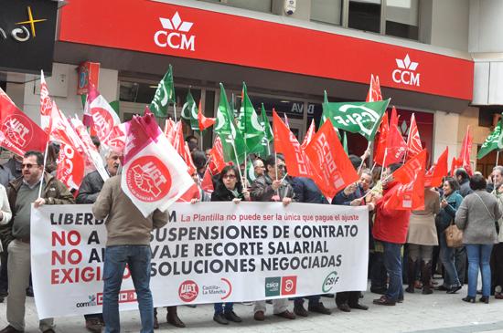 Concentración de los trabajadores de Liberbank-CCM