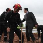 """El delegado de la Junta agradece la """"excelente"""" labor que realizan los profesionales de la UME para velar por la seguridad de los ciudadanos"""