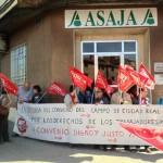 CCOO y UGT exigen a ASAJA el desbloqueo de la negociación del convenio del campo de Ciudad Real