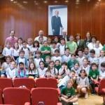 Alumnos del Colegio la Milagrosa visitan el Ayuntamiento de Manzanares