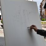 """Pedro Muñoz: Medio centenar de artistas participaron en el primer Certamen de pintura rápida """"Villa del Mayo Manchego"""""""
