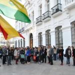 Tomelloso: Los estudiantes franceses participantes en el intercambio cultural son recibidos en el Ayuntamiento