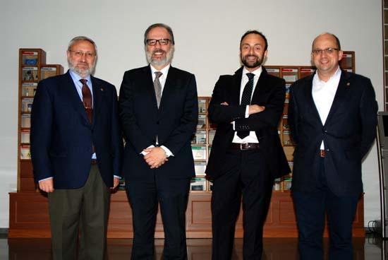 Angel Ríos, José Luque, Roberto Cabrera y Manuel Rodrigo