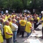 """Puertollano: Un enfurecido Fulgencio Ruiz insulta a la portavoz del PP por """"traicionar"""" a los afectados por las preferentes"""