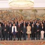El príncipe Felipe recibió a la nueva junta directiva de la Confederación de AJE