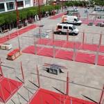 Comienza el montaje de la VIII Feria de los Sabores de Alcázar de San Juan
