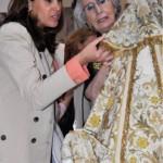 Rosa Romero visita la exposición iconográfica de la Virgen del Prado