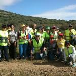 Los miembros del Club de Mayores de Senderismo de Malagón realizan una ruta por el Pantano de Gasset