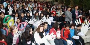 Acto contra la violencia de género organizado por la casa de acogida de Puertollano