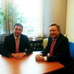 El alcalde de Alcázar trata de impulsar en Bruselas el desarrollo del transporte de mercancías y la plataforma logística