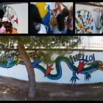 """Daimiel: El colegio La Espinosa clausura el taller """"Arte en el muro"""""""