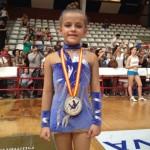 La pedroteña Olivia Izquierdo finaliza segunda en el regional de gimnasia rítmica
