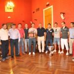 El Vinos Tomillar de fútbol sala es recibido en el Ayuntamiento de Tomelloso