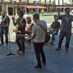 Viejo Den en la Plaza Mayor de Ciudad Real