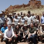 Montiel: Marín y José Mota visitan la excavación del castillo de la Estrella