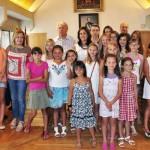 La alcaldesa de Ciudad Real recibe en el Ayuntamiento a los niños ucranianos