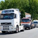 Los conductores de Argamasilla de Alba sacan a la calle sus camiones para celebrar San Cristóbal