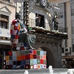 Don Quijote, Cervantes y Alfonso X se visten con ganchillo en apoyo a los enfermos de sensibilidad química múltiple