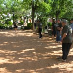 Villanueva de los Infantes: Los aficionados a la petanca ya cuentan con una pista en la Fuente Vieja