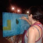 Los alumnos del Curso de pintura López-Villaseñor dan pinceladas a la luz de la luna en el Parque de Gasset