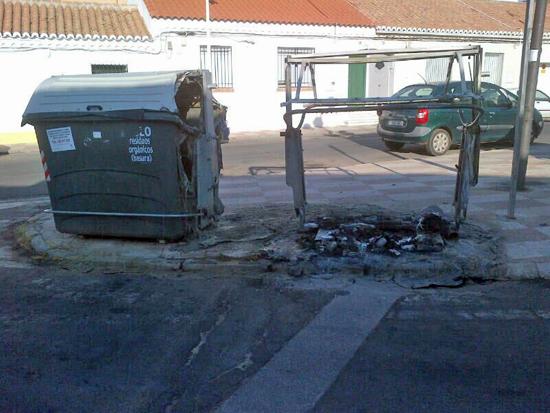 Puertollano: contenedores quemados