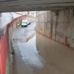 Manzanares: El paso subterráneo de la Avenida de Cristóbal Colón, principal afectado por la tormenta