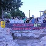 """El bidón """"radiactivo"""" de la plataforma contra el cementerio nuclear en Cuenca se dirige a Pedro Muñoz"""