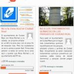 Dos campañas en internet recogen firmas contra la zona azul y las fumigaciones en Ciudad Real