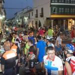 Almagro: Alrededor de 160 personas se animaron a dar pedales bajo la luz de la luna