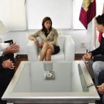 Rosa Romero se reúne con el presidente del CD Ciudad Real