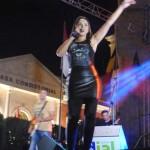 Más de 8.000 personas asistieron ayer al concierto de Chenoa en Valdepeñas