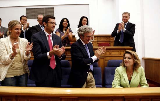 Cospedal asiste al debate sobre el estado de la región. Foto Juan Echagüe/jccm