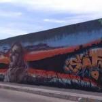 Manzanares: Un gran graffiti en el Polideportivo Municipal homenajea a Pichoner, el joven artista fallecido en Marsella