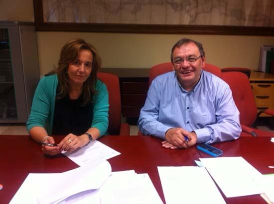 Jacinta Monroy junto a Timoteo Perea