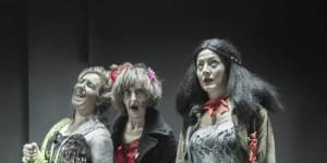 Las actrices protagonistas Isabel Vergel, Manuela Melaya y Ana Torres Lara. Foto de Rafael Castro Torres