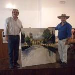 Las calles de Aldea del Rey se llenaron de artistas en el II Certamen de Pintura Palacio de Clavería