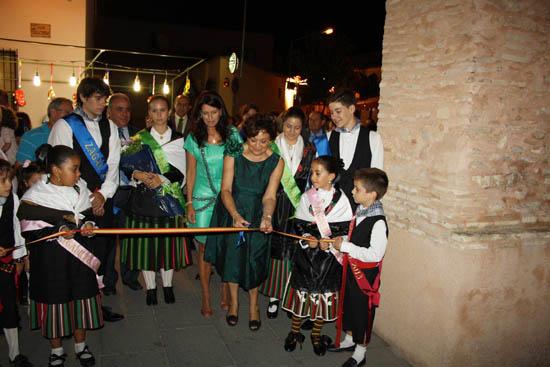 Torralba Corte de cinta de alcaldesa, pregonera y zagales