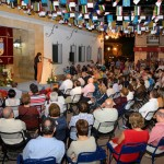 El escritor Roberto Aliaga, Pregonero Mayor, y el ciclista Raúl García de Mateos, Pregonero Joven, dan la bienvenida a la Feria y Fiestas 2013 de Argamasilla de Alba