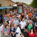 Cientos de devotos acompañaron a la Virgen de Peñarroya en su traslado desde Argamasilla de Alba a su santuario
