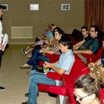 David Triguero presenta el Foro de la Juventud a jóvenes de la comarca de Almadén