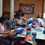 Almagro: El Patio de Fúcares acoge un curso intensivo de encaje de blonda