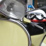 Más de cuarenta motocicletas participan en la V Scooterada Rocinante