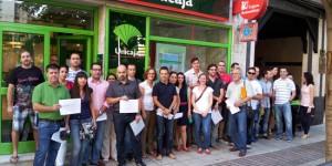 Manifestantes afectados por las clausulas suelo en Puertollano (archivo)