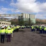 Puertollano: Los trabajadores de Encasur y sus contratas se concentran en solidaridad con los seis mineros muertos en León