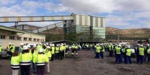 Concentración de los trabajadores de Encasur (archivo)